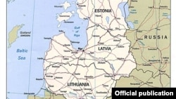 Baltic states map