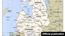 Карта стран Прибалтики. Иллюстративное фото.