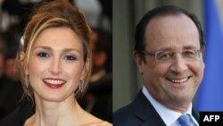 Julie Gayet şi Francois Hollande