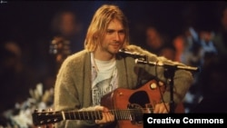 U.S. -- A leader of Nirvana grunge rock-group Curt Cobain, New York, 1993.