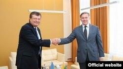 Міністр закордонних справ України Костянтин Грищенко зустрівся з Міністром закордонних справ Литви Аудронюсом Ажубалісом, 17 червня 2010 року