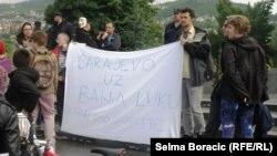 Sa studentskog protesta u Sarajevu