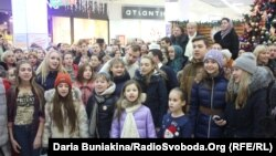 Встановлення рекорду України з наймасовішого виконання колядки в Черкасах