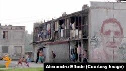 Mahalaua segregată a romilor Angi Mlyn, Michalovce, în estul Slovaciei