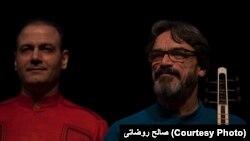 از راست: حسین علیزاده و علیرضا قربانی