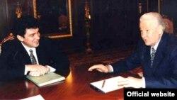 Борис Немцов и Борис Ельцин (архив)