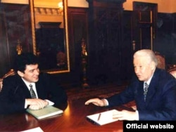 After a meteoric rise to power and a stint as Nizhny Novgorod governor, Russian President Boris Yeltsin (right) named Nemtsov first deputy prime minister in 1997, aged just 37.