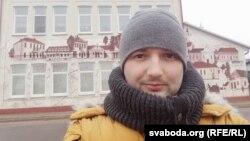 Дзьмітры Гурневіч у Стоўпцах, люты 201