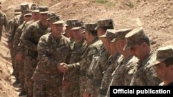 Nagorno-Karabakh - Armenian Defense Minister Seyran Ohanian visits Karabakh Armenian frontline positions , 27July2014