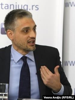 Čedomir Jovanović tokom debate