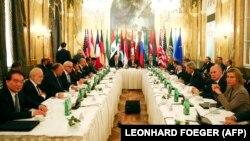 Участники переговоров по Сирии. Вена, 14 ноября 2015 года.