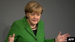 Канцлер ФРГ Ангела Меркель. Берлин, 18 ноября 2013 года.