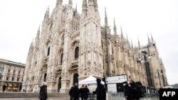 Milano la începutul lunii martie, 2020
