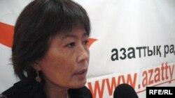 Ризада Жакыпбек дает интервью радио Азаттык. Алматы, 1 декабря 2008 года.
