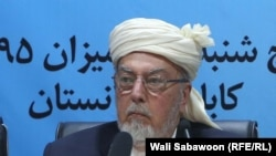 The late head of Afghanistan's High Peace Council Pir Saye Ahmed Gailani (file photo)