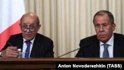 Жан-Ив Ле Дриан и Сергей Лавров, Москва, 9 сентября 2019