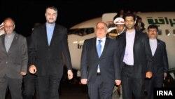 Pamje nga arritja e Kryeministrit irakian Haidar al-Abadi në Tehran të Iranit.
