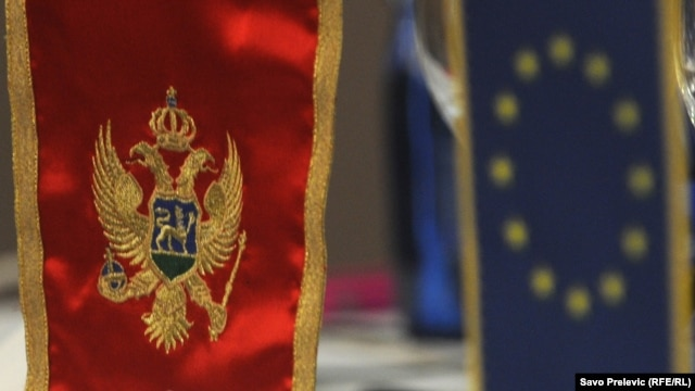 Zastave Crne Gore i EU
