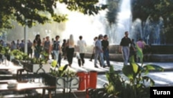 Bakı fəvvarələr meydanı, arxiv foto