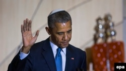 باراک اوباما در کنیسه «آداس اسرائیل» واشینگتن