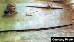 Uzbekisttan - metro station in Tashkent named after hero of Soviet Union Chkalov