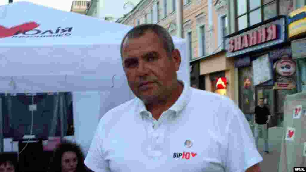 Валянцін Юрчанка, кіраўнік жытомірскай рэгіянальнай партыйнай арганізацыі