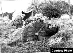 Болгарские солдаты в города Банска-Бистрица (Словакия). 1968 год. Фото из архива Министерства обороны Болгарии