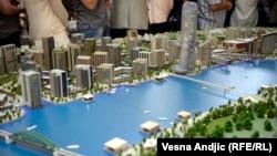 """Maketa projekta """"Beograd na vodi"""", predstavljena krajem juna 2014."""