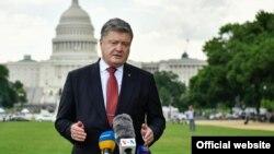 Президент Украины Петр Порошенко. Вашингтон, 21 июня 2017 года.
