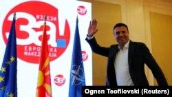 Македонский премьер Заев после референдума