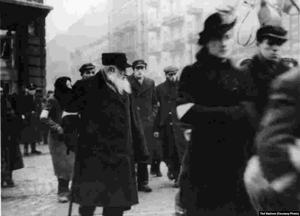Jews in a ghetto street