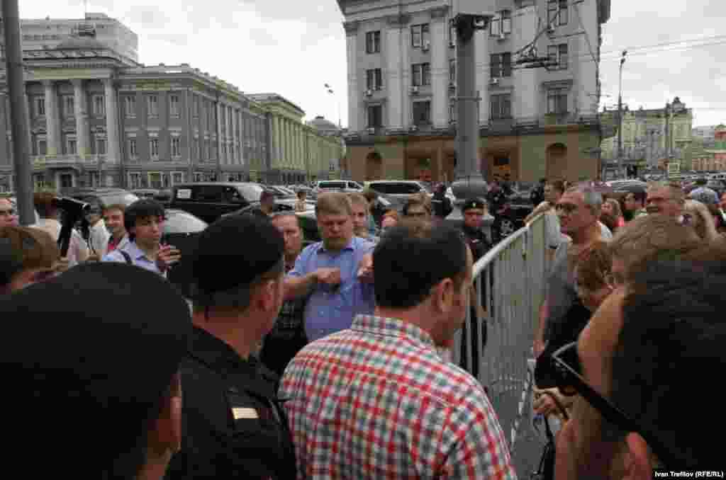 Кандидат в мэры Москвы от партии Яблоко Сергей Митрохин