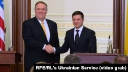 Майк Помпео и Владимир Зеленский, Киев, 31 января 2020 года