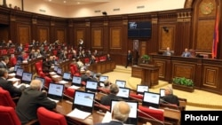 Armenia - A session of parliament.