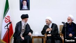 رییس و مسوولان قوه قضاییه ایران به مناسبت هفته قوه قضاییه با رهبر جمهوری اسلامی ایران، دیدار کردند