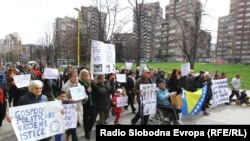 Prosvjed u Zenici, 23.februar