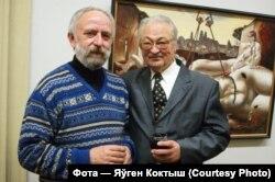 Мастак Уладзімер Кожух і паэт Генадзь Бураўкін