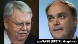 A composite photo of U.S. Ambassador to Russia John Tefft (left) and the newly appointed Russian ambassador to the United States, Anatoly Antonov.