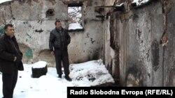 Опожарена куќа на семејство Алиоски од прилепското село Канатларци