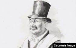 Фридрих Горенштейн. Рисунок Ольги Юргенс