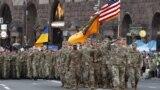 Militari americani la parada de la Kiev din 22 august 2018