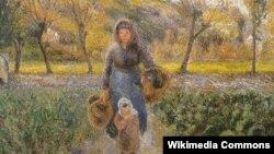 Каміль Пісаро, «У агародзе» (1881)
