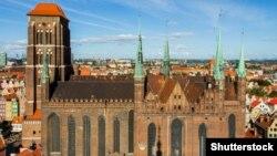 """Църквата """"Св. Мери"""" в Гданск в Полша"""