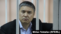 Kamchybek Kolbaev, seen in Kyrgyz court in April, is on a U.S. list of suspected major global drug traffickers.