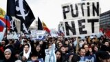 Protests in Moscow in March against a sovereign Internet