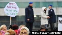 Jedan od protesta protiv vlasti u Sarajevu - ilustracija