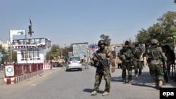 نیروهای امنیتی افغان در کابل، عکس تزئینی است