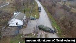 Militari ruși din Grupul Operativ de Forțe în apropiere de Cobasna
