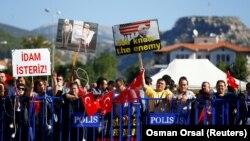 Türkiyədə Erdogan tərəfdarları, arxiv fotosu