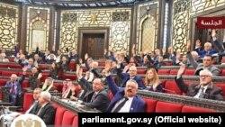 Голосование в сирийском парламенте